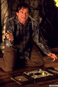 Robin Williams in jumanji. I can't choose my favorite Robin Williams' film, so I pick the one that made me love him first
