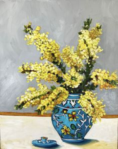 Moroccan Vase and Wattle – Ali Wood Artist