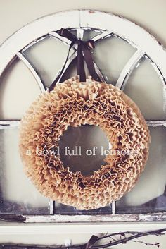Coffee filter wreath tutorial...