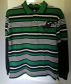 Boys Beverly Hills Polo Club Striped Polo Shirt Large