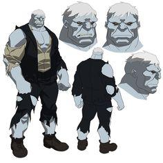 Solomon Grundy in Justice League V Teen Titans #solomongrundy #JLvsTT #justiceleague #dccomics #dcentertainment #wbanimation #animation #characterdesign by philbourassa