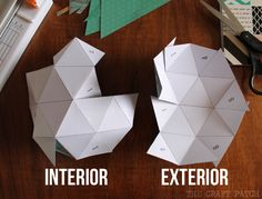 Make these fun, DIY Geometric Bowls from Scrapbook paper using the Home+Made line! Jennifer from The Craft Patch shows us how!