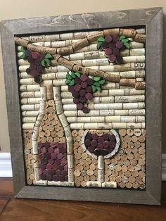 Wine Craft, Wine Cork Crafts, Wine Bottle Crafts, Crafts With Corks, Art Du Vin, Wine Cork Projects, Wine Cork Art, Wine Bottle Corks, Bottle Candles