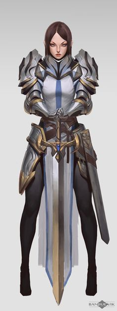 ArtStation - Knight heavy armor, Banjiu E'vik