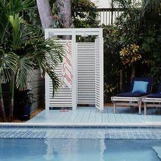 Really good idea! **nice simple pool shower