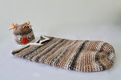 Baby Crochet Cocoon  Baby Swaddle Sack  by SnuggableStitches