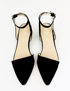 Pointy ankle strap flats. yes