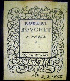 Robert Bovchet Guitar Label