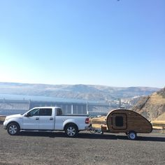 My teardrop camper overlooking the Grand Coulee Dam in Eastern Washington.