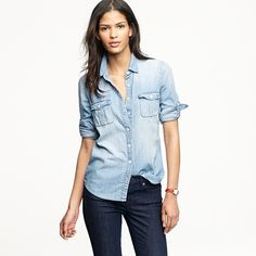 I've been looking everywhere for a denim shirt. And by everywhere I mean resale shops. Not sure I'm ready to cough up $78....