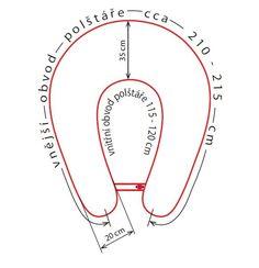 Kojicí pošltář Matýsek:    velikost MAXI 205 cm     Základní parametry:      délka polštáře 205 cm (měřené pod vnější částí)   vnitřní obvod pošltáře (měřené od knoflíku po poutko na zapínání) cca 115-120 cm, měří se zapnutý...