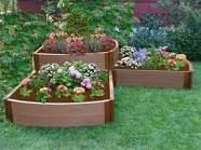Spring is Here! Mix & Match Outdoor Living Space Ideas from Better Homes & Gardens at Walmart Frame It All Frame It All Series Composite Split Waterfall Raised Garden Bed Kit - x x from Hayneedle Elevated Planter Box, Planter Boxes, Planters, Raised Planter, Raised Garden Bed Kits, Raised Flower Beds, Raised Beds, Raised Gardens, Landscaping Tips