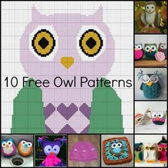 10 free owl patterns