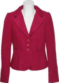 Women's Wool-Blend 3-Button Blazer Jacket
