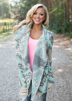 Adorned Mint Sweater