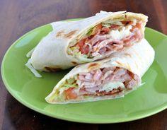 The Ultimate Turkey Bacon Club Sandwich Wrap