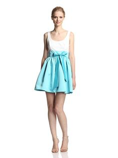www.myhabit.com  Two-tone fit-and-flare dress with scoop neckline, satin waistband with matching self-tie sash, satin skirt with on-seam side pockets, tulle underskirt for fullness and hidden back zipper