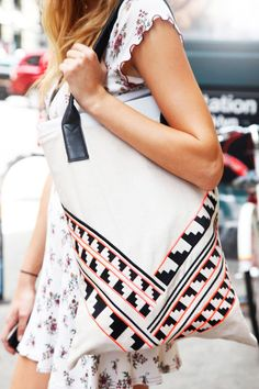 NYC #streetstyle Sports Girl bag and vintage dress