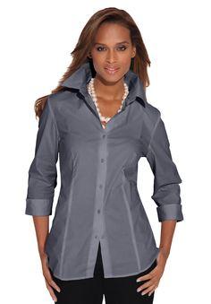 Poplin Blouse | Plus Size Shirts & Blouses | Jessica London