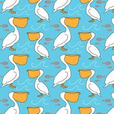 Pelican Pete fabric by joannepaynterdesign on Spoonflower - custom fabric