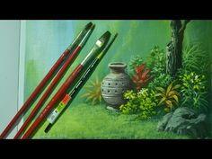 Acrylic Landscape Painting Lesson - Vase in the Garden by JM Lisondra - YouTube