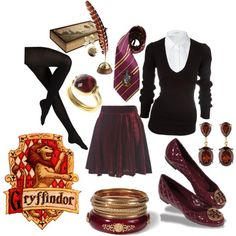 """Gryffindor Uniform"" by is-brea-ficsean on Polyvore"