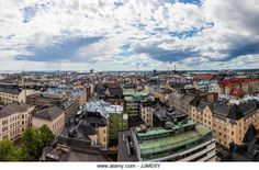 Clouds above Helsinki, Finland - Stock Image