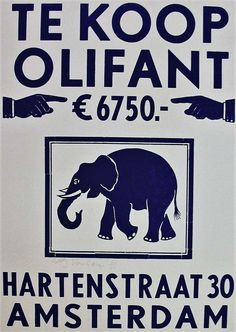 Linocut, Elephant for sale