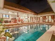 Seminyak villa with 3 bedrooms Bali Accommodation, Pool Bar, Jacuzzi, Future House, House Plans, Vacation, Mansions, Bedroom, House Styles