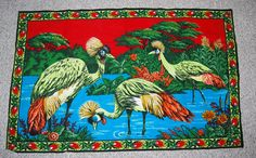 Vintage Birds in Paradise Large Cloth Wall by CheekyVintageCloset, $42.00
