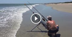 Dessertpin - Potato guns are now bait cannons, wait until you see what he reels in Beach Jeep, Bait, Cannon, Shark, Waiting, Guns, Potatoes, Fishing Stuff, Ideas