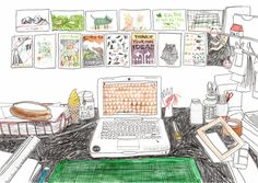 workspace (for uppercase magazine) • jen collins / hellojenuine