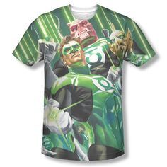 Green Lantern Corps Power Rings DC Comics ALL OVER FRONT Sublimation T-shirt Top Mens Sizes: S, M, L, XL, 2XL