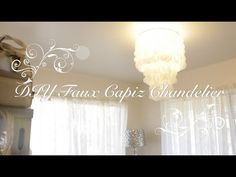How to make a Faux Capiz Shell Chandelier, inspired by West Elm and the Philippines. This is a simple project that transforms your stock overhead lighting in...