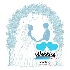 Flowery Wedding Dress, Floral Wedding, Arab Wedding, Wedding Bride, Wedding Logos, Wedding Cards, Desk Calender, Certificate Design Template, Good Night I Love You