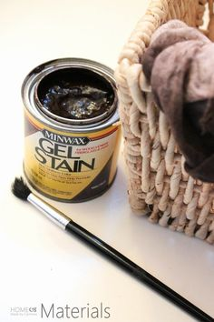 How To Stain A Basket - Home Made By Carmona