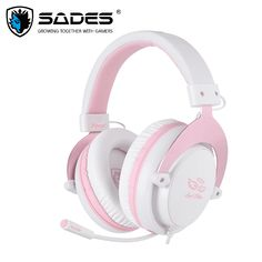Buy SADES M-Power Gaming Headset (Pink) on at Mighty Ape NZ. The SADES M-Power Gaming Headset is a multi –platform headset delivering excellent stereo sound on a majority of gaming devices. Cheap Headphones, Gaming Headphones, Headphones With Microphone, Over Ear Headphones, Beats Headphones, Gaming Headset, Xbox One Controller, Xbox 360, Pink Games