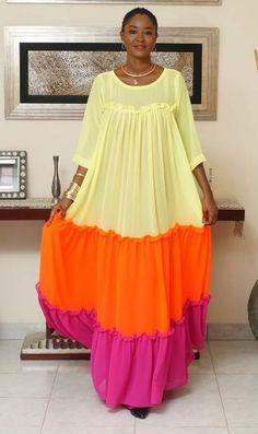 Women Fashion New Fashion African Wear Dresses, Latest African Fashion Dresses, African Print Fashion, Africa Fashion, African Attire, 60 Fashion, Fashion Outfits, Color Fashion, Fashion Hats
