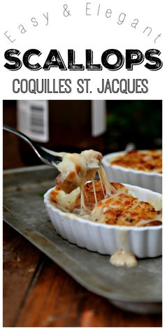 We'll show you How to Make Scallops Coquilles St. Jacques. An easy and elegant appetizer or entree. #scallops #seafood #french Elegant Appetizers, Seafood Appetizers, Seafood Dinner, Appetizer Recipes, Seafood Platter, Seafood Pasta, French Appetizers, Recipes Dinner, Dinner Entrees