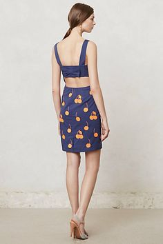 Love the back detail on this adorable cherry dress from Anthropologie - on sale for $99