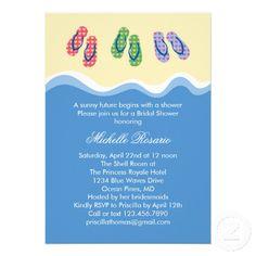 8d2c995d714957 Flip Flops Beach Bridal Shower Invitation Princess Bridal Showers