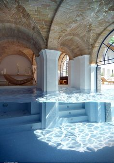 way cool pool. I love how it is both kinda indoors and out. Handy for people who dont like swimming in the rain.