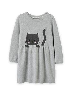 Cat Dresses, Little Girl Dresses, Baby Boy Outfits, Kids Outfits, Pakistani Fashion Casual, Knitted Baby Clothes, Knitted Cat, Baby Wearing, Baby Knitting