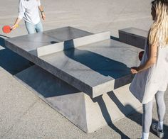 Taking a walk through the city of tomorrow may be a lot more fun than you think thanks to this concrete ping pong table. Made from a mix of concrete and stone aggregate, it was designed to be used in public spaces throughout Australia and Europe.