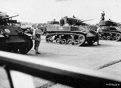 Chinese light tank crew Stuart M5