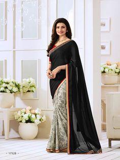Black Exclusive Designer Fancy Saree