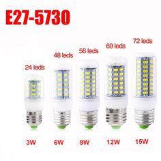 9W 12W 15W E27 E14 G9 B22 5730 LED Glühbirne Birne Mais Licht Leuchtmittel Lampe   eBay