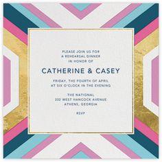 Jonathan Adler Wedding Invitation / Paperless Post