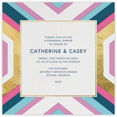 Jonathan Adler Wedding Invitation / Paperless Post