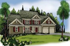 questionable over garage   House Plan 419-134